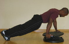 core board plank twist
