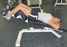 incline crunches