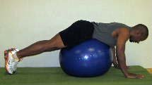 low back exercises on the ball
