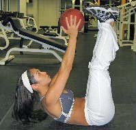 medicine ball crunches for abdominals