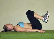 reverse crunches for lower abs, lower ab crunches