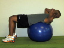 oblique crunches on stability ball