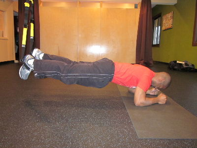 trx plank from elbows